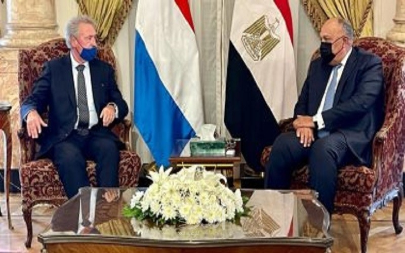 وزير خارجية مصر: نتطلع للتواصل مع حكومة إسرائيل لتحقيق السلام مع الفلسطينيين