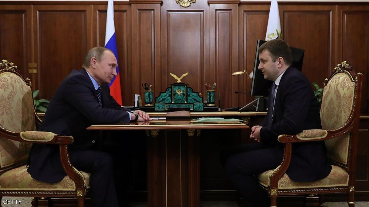فلاديمير بوتن وماكسيم أورشكين