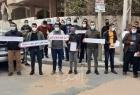 """بالصور .. اعتصام قائمة """"حكيم جامعي"""" أمام مقر مجلس الوزراء الفلسطيني للمطالبة بتوظيفهم"""