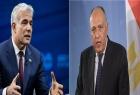 """وزير خارجية مصر """"شكري"""" يتلقى اتصالا من نظيره الإسرائيلي """"لابيد"""""""