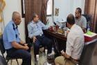 مركز شباب الأمة يستقبل وفد من الشرطة في خان يونس