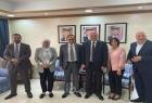 حقوق الانسان في (م ت ف) تلتقي منسق عام حقوق الانسان ولجنة الحريات البرلمانية في الأردن