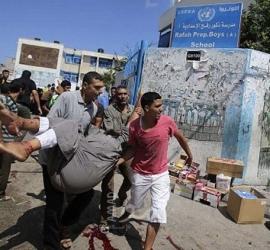 انتشال (8) شهداء جراء القصف المدفعي الهمجي الذي استشهدف شمال القطاع
