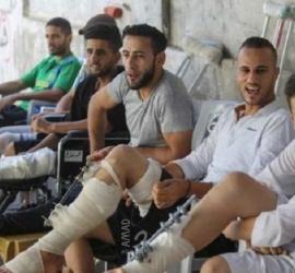 غضب واسع بين جرحى المسيرات بغزة بسبب قرار تأجيل وقطع مخصصاتهم من قبل تنمية حماس