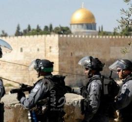 قوات الاحتلال تعتقل مواطنين من حي الشيخ جراح بالقدس - فيديو