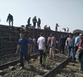 الصحة المصرية: إصابة 97 مواطنًا في حادث قطار طوخ - فيديو