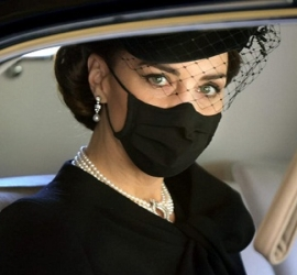 سر قلادة كيت ميدلتون فى جنازة الأمير فيليب