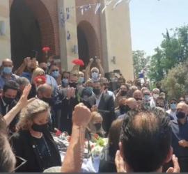 """الديمقراطية تشارك في تشييع """"ڤاسوس ليساريذيس"""" إلى مثواه الأخير في قبرص"""