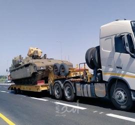 بعد تهديد غانتس..جيش الاحتلال يحشد قوات اضافية  قرب السياج الفاصل مع قطاع غزة - فيديو