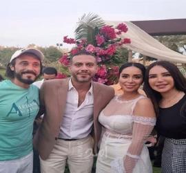 محمد فراج وبسنت شوقي يحتفلان بزفافهما بطريقة ملفتة.. فيديو