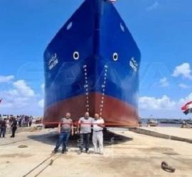 تعويم أول سفينة شحن سورية مصنعة محليًا