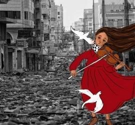 ألاء الجعبري.. تفضح جرائم الاحتلال بالشخصيات الكرتونية - صور