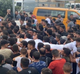 تشييع جثمان الشهيد بني شمسة في بلدة بيتا جنوب نابلس
