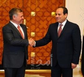 """الرئيس """"السيسي"""" يوجه التهنئة لملك الأردن بمناسبة مئوية تأسيس المملكة الأردنية"""