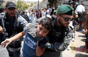 اعتقال (4) شبان والإفراج عن طفل بشرط الحبس المنزلي في القدس