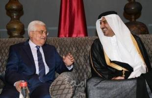 عباس يتلقى اتصالًا من أمير قطر