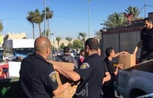 جيش الاحتلال يصادر عشرات الطرود الغذائية بالقدس