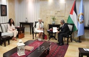 أشتية يبحث مع القنصل البلجيكي والممثل المالطي آخر التطورات