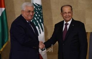"""""""عباس"""" يتلقى برقية تهنئة بعيد الفطر من نظيره اللبناني"""