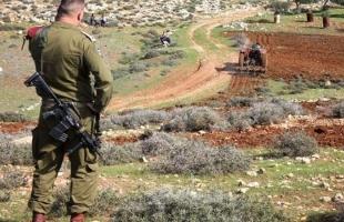 قوات الاحتلال تستولي على 20 دونماً من أراضي المواطنين شرق نابلس