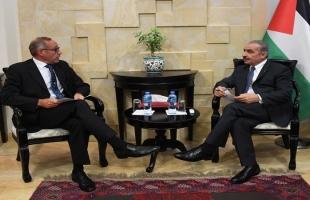 أشتية يستقبل رئيس بعثة الشرطة الأوروبية في فلسطين