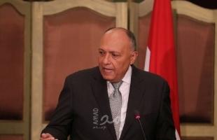 """في اتصال مع بومبيو.. شكري: حل شامل للقضية الفلسطينية على أساس """"الدولتين"""""""