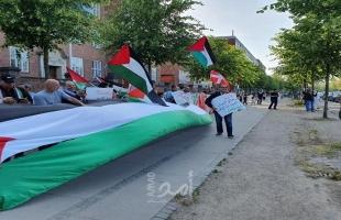 """وقفة احتجاجية ضد """"صفقة ترامب"""" في مدينة أودنسه الدنماركية"""