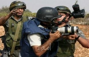 """لجنة دعم الصحفيين: الاحتلال يستهدف (16) صحفياً ويعتقل آخرين خلال """"إبريل"""""""