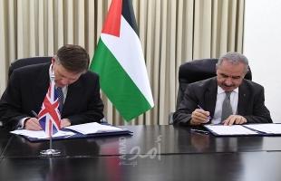 أشتية يوقع مع القنصل البريطاني مذكرة تفاهم لدعم قطاع الأمن