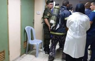"""بالصور.. إغلاق مستشفى """"بيت جالا الحكومي"""" بعد اندلاع حريق في مستودع الأدوية"""