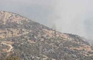 """مدفعية الاحتلال الإسرائيلي تقصف """"جبل الروس"""" في مزارع شبعا حنوب لبنان"""