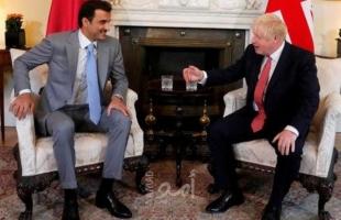 موقف مفاجئ خلال لقاء مع جونسون...أمير قطر تميم يعبر عن قلقه من سلوك إيران تجاه أرامكو