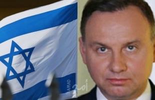 """الرئيس البولندي يتهم إسرائيل بـ""""مسئوليتها"""" عن حوادث معاداة السامية الأخيرة في بلاده"""