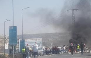 إصابة مواطنين بالرصاص المطاطي وعشرات حالات الاختناق شمال البيرة