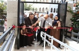 الفريق الوطني لإعادة إعمار غزة يفتتح مشروع تحسين البيئة التعليمية للأشخاص ذوي الإعاقة