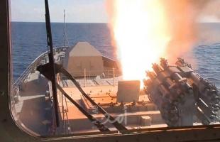 إطلاق صواريخ روسية في البحر المتوسط