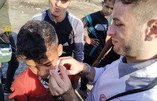 """محدث 4 - بالصور والفيديو.. 69 إصابة برصاص جيش الاحتلال في جمعة """"لا للتطبيع"""" شرق غزة"""