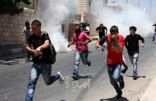مواجهات بين الشبان وقوات الاحتلال شمال الخليل