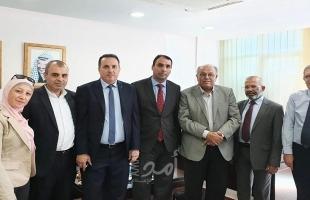 رام الله: أبو زهري يلتقي الهيئة الفلسطينية لحملة الدكتوراة بالوظيفية العمومية