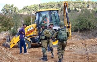 جيش الاحتلال يمنع ترميم نبع مياه في قريوت