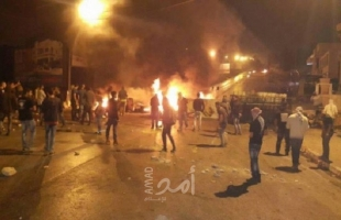 إصابات بالاختناق خلال مواجهات مع قوات الاحتلال شمال نابلس