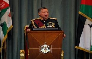 الملك عبد الله: نعلن انهاء العمل بملحقي الباقورة والغمر  وندعم إقامة الدولة الفلسطينية