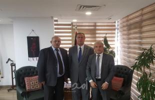 اللوح يستقبل وزير النقل والمواصلات ورئيس اتحاد المستهلك