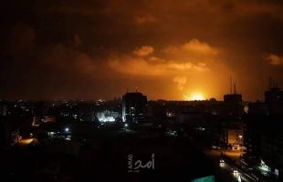 الطيران الحربي الإسرائيلي يشن عدة غارات على مواقع جنوب قطاع غزة