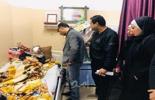 """صور - مجلس الشباب الفلسطيني بساحة غزة يزور """"مي أبو رويضة"""""""