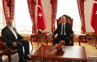 في لقاء مغلق...أردوغان يستقبل هنية في إسطنبول