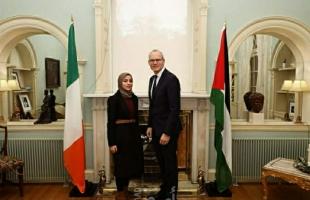 """تروي لـ""""أمد"""" تفاصيل المنحة.. ريم داود طالبة فلسطينية من غزة تلتقي برئيس الوزراء الإيرلندي"""