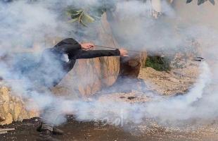 إصابات بالاختناق خلال مواجهات مع قوات الاحتلال بقلقيلية