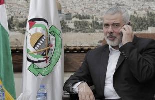 هنية يهاتف عباس ويبحث معه تطورات كورونا