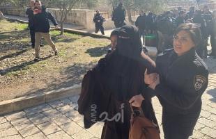 مركز فلسطين: 118 حالة اعتقال لنساء وفتيات خلال العام الماضي بينهن قاصرات ومسنات